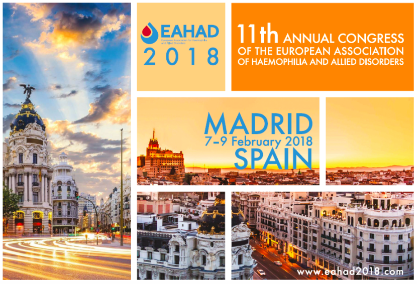 EAHAD 2018 in Madrid poster
