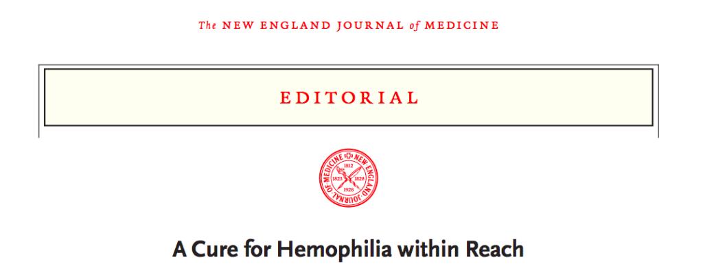 Screenshot of Dr H Marijke van den Berg's editorial in the New England Journal of Medicine (9th December, 2017)