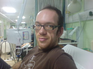 Dan Jeffries before undergoing surgery (November 2007)