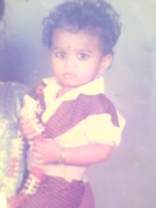 Rahul as a toddler (circa 1991)