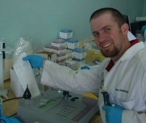 Chris at the lab in Kenya (August 2011)