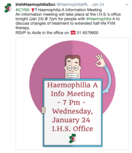 Irish Haemophilia Society Twitter (2018)