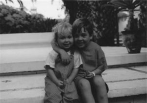 Alex and Lois as young children.