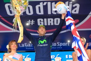 Alex celebrating winning stage eight of the Giro d'Italia (2013)