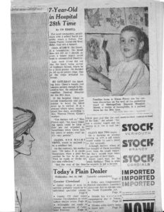 Press cutting featuring a story about Glenn as a 7-year-old.