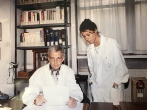 Flora Peyvandi pictured with Prof. Pier Mannucci.