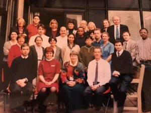 Flora Peyvandi pictured with the haemophilia team at the Royal Free Hospital in 1996.