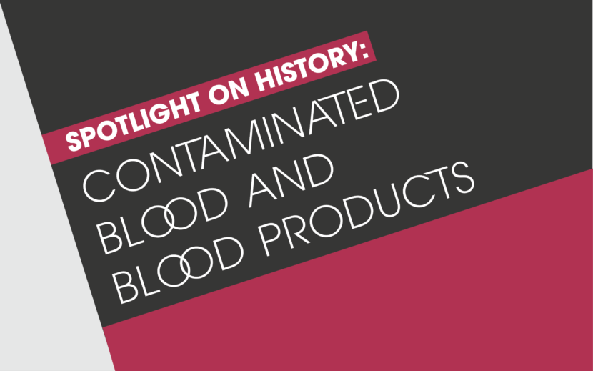 Contaminated blood hero image