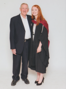 Lauren Thompson on graduation day at the University of Bristol.